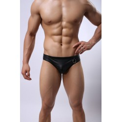 Faux Leather Thong by WangJiang